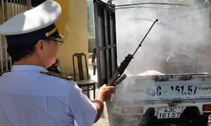 Trạm kiểm dịch động vật giám sát xe chở lợn qua Đà Nẵng