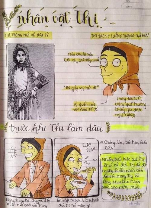 Nữ sinh gây bão vì biến vở học Văn thành tranh vẽ sống động  - 5