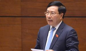 Phó thủ tướng Phạm Bình Minh trả lời chất vấn trước Quốc hội