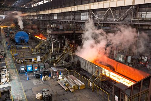 Nhà máy thép Nippon ở Kimitsu, Nhật Bản.