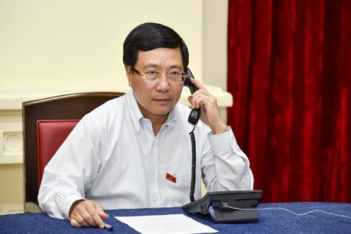 Phó thủ tướng, Bộ trưởng Ngoại giao Phạm Bình Minh. Ảnh: Bộ Ngoại giao.
