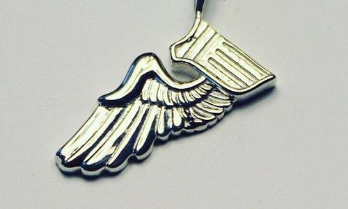 Một mảnh huy hiệu sau khi được bẻ trong lễ tốt nghiệp của phi công. Ảnh: USAF.