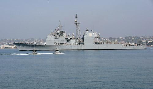 Tàu tuần dương mang tên lửa dẫn đường USS Chancellorsville. Ảnh: Navy Times.