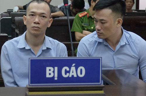 Hai trong số ba bị cáo tại phiên tòa phúc thẩm.