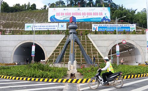 Hầm Đèo Cả trên Quốc lộ 1A, giúp rút ngắn thời gian từ Khánh Hòa qua Phú Yên và hướng ngược lại. Ảnh: Xuân Ngọc