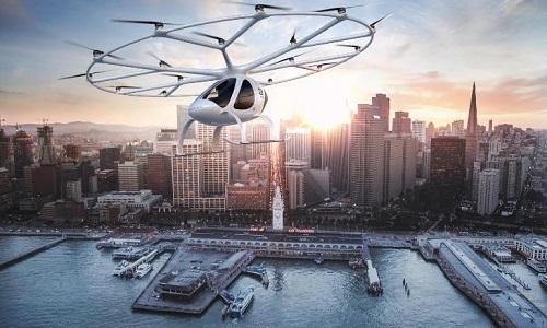Volocopter sẽ bắt đầu chở khách từ năm sau. Ảnh: CNN.