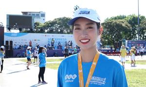 Hoa hậu Đỗ Mỹ Linh tự hào khi về đích ở cự ly 5 km
