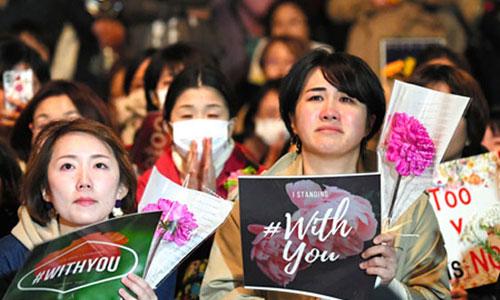 Một cuộc biểu tình hưởng ứng phong trào #MeToo chống xâm hại tình dục ở Nhật Bản hồi năm ngoái. Ảnh: PRI.