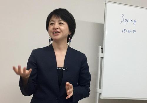 Jun Yamamoto, người đứng nhóm Spring gồm các nạn nhân bị tấn công tình dục, nói chuyện với báo chí hồi cuối tháng 5 ở Tokyo, Nhật Bản. Ảnh: Reuters.