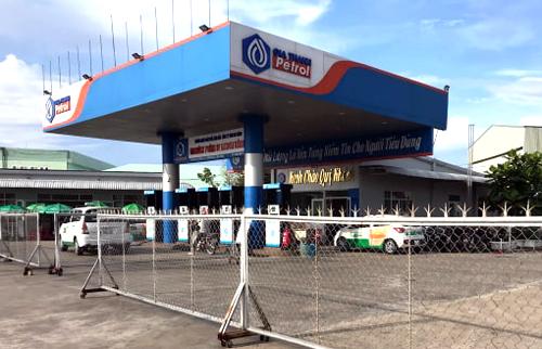 Một cửa hàng xăng dầu của gia đình ông Trịnh Sướng ởTP Sóc Trăngđã ngừng bán. Ảnh: Hoàng Hành.