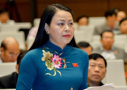 Đại biểu Nguyễn Thị Thu Hà, Chủ tịch Hội liên hiệp Phụ nữ Việt Nam. Ảnh: Trung tâm báo chí Quốc hội