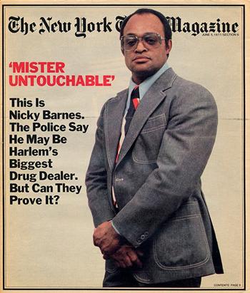 Nicky Barnes xuất hiện trên trang bìa Tạp chí New York Times năm 1977. Ảnh: NYTimes.