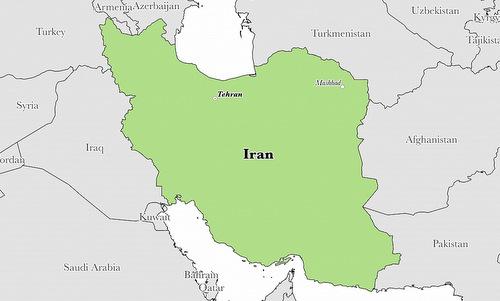 Vị trí của Iran với các nước láng giềng Trung Đông. Đồ họa: Graphic Maps.