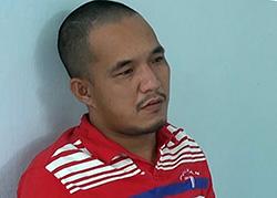 Nguyễn Duy Khanh tại cơ quan công an. Ảnh: An Phú