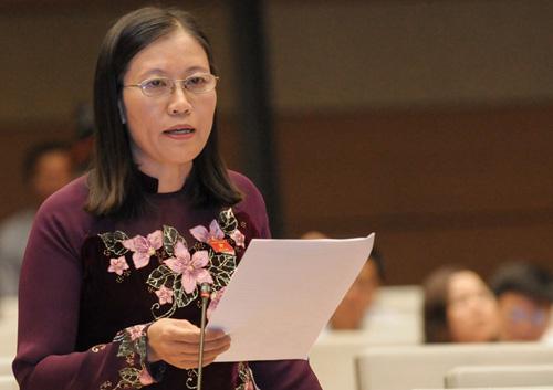 Chủ nhiệm Uỷ ban Tư pháp Lê Thị Nga. Ảnh: Trung tâm báo chí Quốc hội