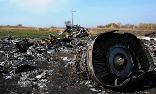Mảnh vỡ của MH17 sau khi bị bắn hạ hồi 2014. Ảnh: AFP.