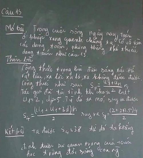 Bài toán được trình bày như một bài văn hoàn chỉnh.
