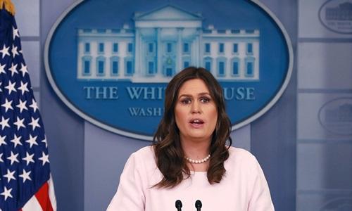 Thư ký báo chí Nhà Trắng Sarah Sanders. Ảnh: AP.
