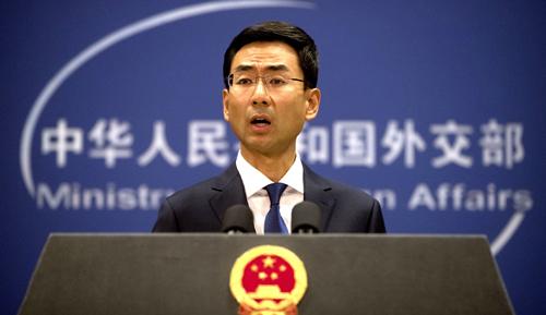Phát ngôn viên Bộ Ngoại giao Trung Quốc Cảnh Sảng. Ảnh: AFP.