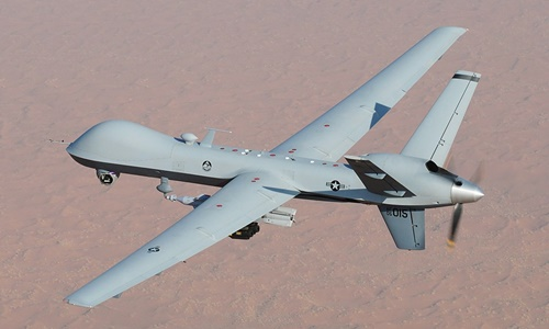 Máy bay không người lái MQ-9 của Mỹ tại Afghanistan năm 2008. Ảnh: US Air Force.