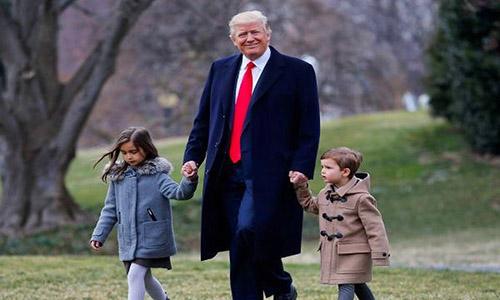 Bức ảnh đượcIvanka Trump đăng kèm lời chúc mừng sinh nhật cha mình hôm 14/6. Ảnh: Twitter.