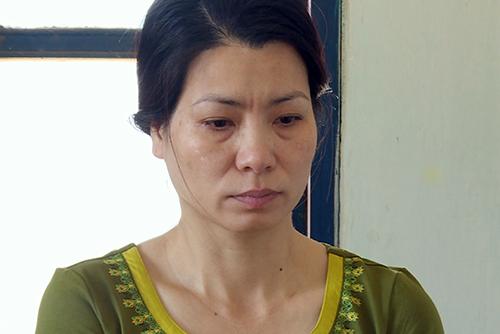 Trịnh Thị Thi Hậu tại cơ quan điều tra. Ảnh: Diệp Chi.
