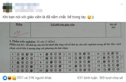 Khi bạn đã nắm chắc 9 điểm trong tay còn 1 điểm nằm trên giấy.