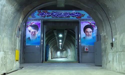 Cửa chống sức nổ trong căn cứ tên lửa đạn đạo Iran. Ảnh: IRNA.