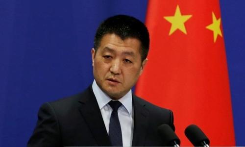Phát ngôn viên Bộ Ngoại giao Trung Quốc Lục Khảng. Ảnh: Reuters.