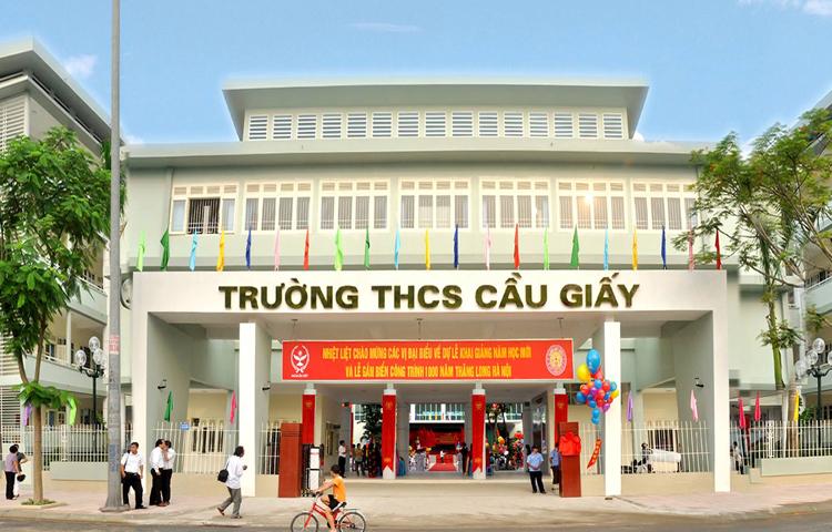 Trường THCS chất lượng cao Cầu Giấy. Ảnh: edu.vn