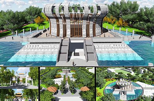 Phối cảnh đền thờ các Vua Hùng sẽ được xây dựng tại Cần Thơ. Ảnh: An Phú