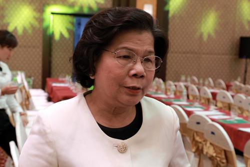 bà Vũ Kim Hạnh, Chủ tịch Hội Doanh nghiệp hàng Việt Nam chất lượng cao