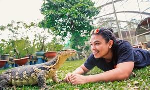 Gia đình nuôi bò sát làm thú cưng trong khu vườn 1.400 m2