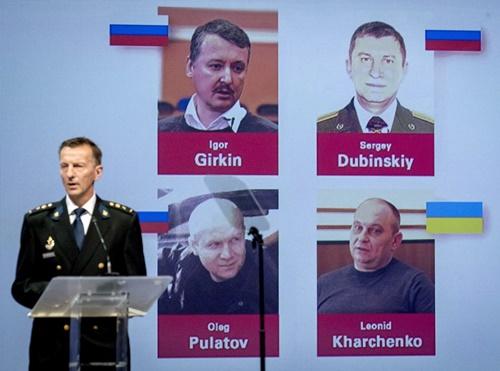 Điều tra viên quốc tế ngày 19/6 công bố danh tính 4 người bị cáo buộc đưa tên lửa BUK vào đông Ukraine. Ảnh: AFP.
