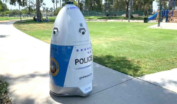 HP RoboCop được trang bị hệ thống camera 360 độ. Ảnh cắt từ video.
