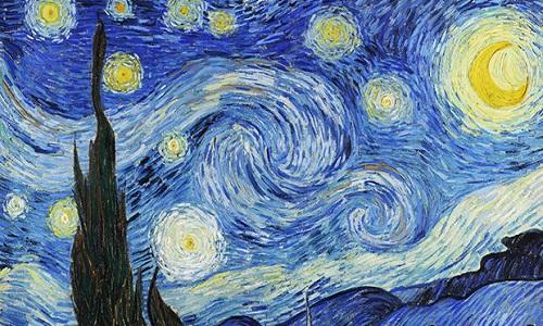 Bức tranh Đêm đầy sao của Van Gogh. Ảnh: CBS.
