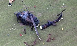 Trực thăng quân sự Nhật gãy đuôi sau khi hạ cánh khẩn cấp