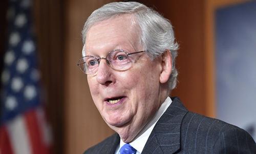 Lãnh đạo phe đa số tại Thượng viện Mỹ Mitch McConnell. Ảnh: AFP.