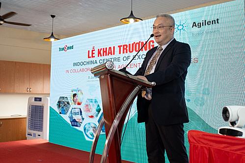Ông Vũ Hồng Minh, Giám đốc Công ty TRANSMED - chủ đầu tư của Trung tâm Nghiên cứu và Đào tạo Indochina Center of Excellence (COE).