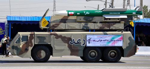 Xe nạp đạn kiêm bệ phóng của hệ thống Raad. Ảnh: MEHR News.