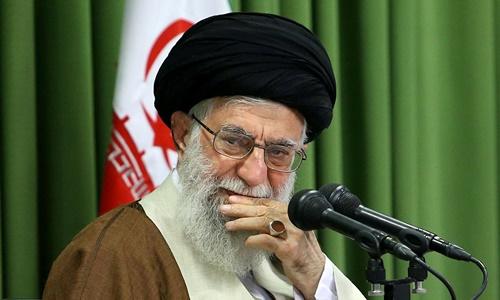 Lãnh đạo tối cao Iran Ayatollah Ali Khamenei tại Tehran tháng 10/2017. Ảnh: Reuters.
