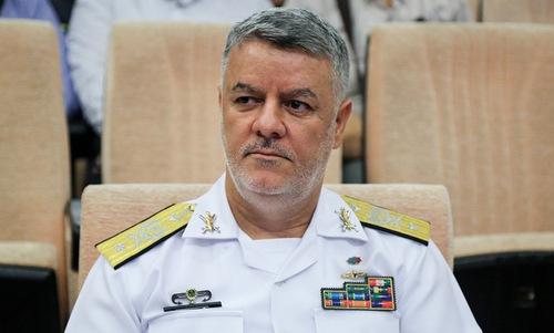 Phó đô đốc Khanzadi trong một cuộc họp năm 2018. Ảnh: Fars News.
