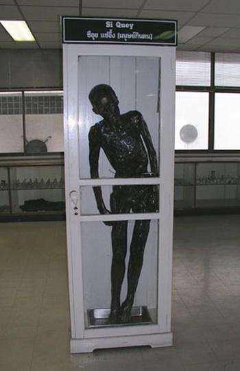 Xác ướp Si Quey tại bệnh viện Siriraj ở Bangkok. Ảnh:pattayamail.