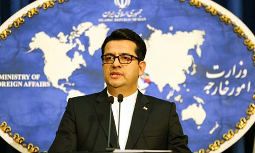 Người phát ngôn Bộ Ngoại giao Iran Abbas Mousaviphát biểu ở Tehran hôm 28/5. Ảnh: AFP.
