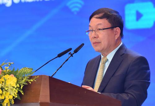 Quyền Chủ tịch Tập đoàn Viettel Lê Đăng Dũng phát biểu tại sự kiện.