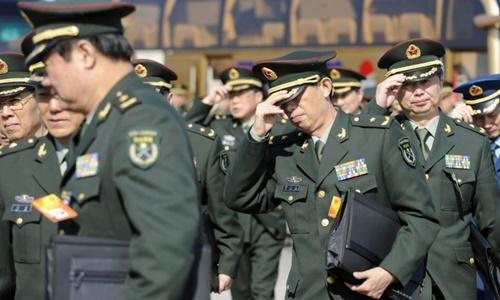 Các quan chức quân đội Trung Quốc tới tham dự một phiên họp tại thủ đô Bắc Kinh hồi năm 2010. Ảnh: AFP.