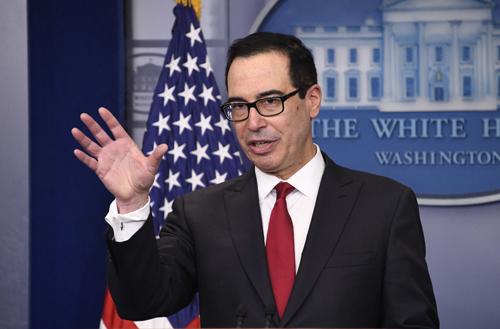 Bộ trưởng Tài chính Mỹ Steven Mnuchin. Ảnh: Reuters.