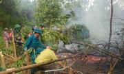 Hà Tĩnh một ngày xảy ra ba vụ cháy rừng