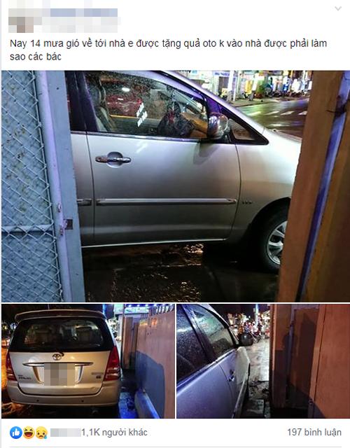 Về đến nhà nhưng không thể vào được vì ôtô đỗ kém ý thức.