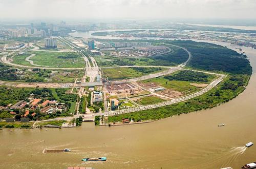 Khu đô thị mới Thủ Thiêm sau hơn 20 năm xây dựng. Ảnh: Quỳnh Trần